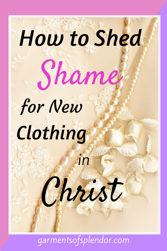 "Are you in need of a new spiritual wardrobe today? Tired of ""wearing"" shame and the guilt of your sin on your shoulders? Trade in you ""old self"" for Christ's new garments of righteousness, peace and joy!"