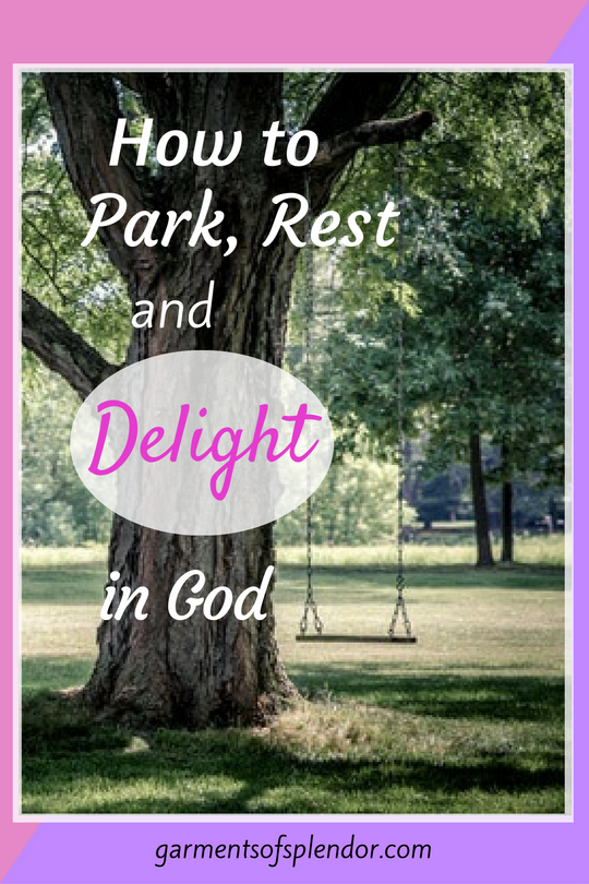 Looking for rest and delight in Christ? You may find peace and joy by taking a casual stroll in a park!