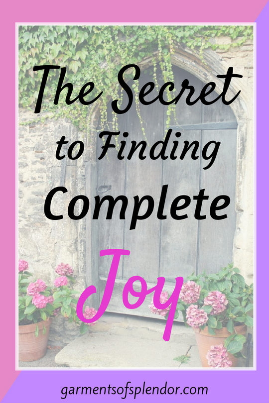 Find the secret to finding complete joy by understanding one simple word: abide.