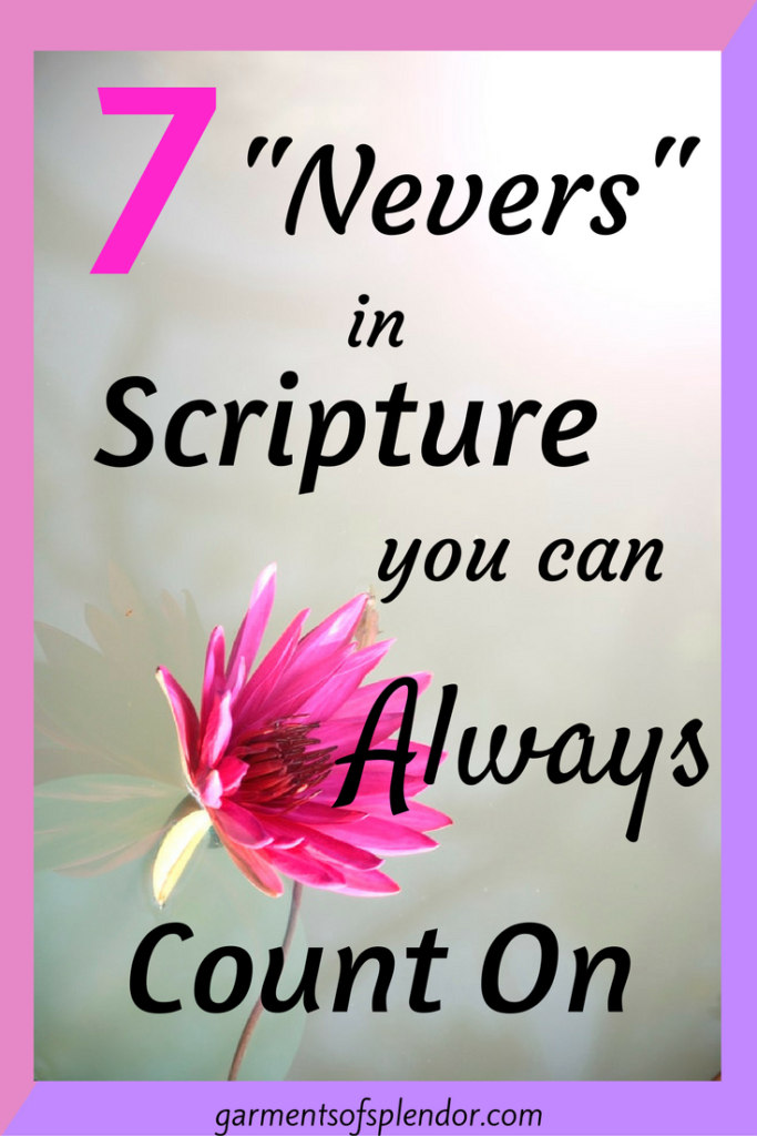 "Find rest and comfort in the seven ""nevers"" of God's word!"