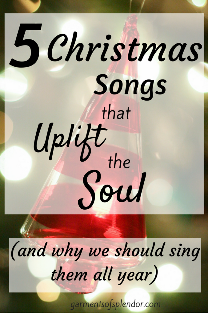 These five Christmas songs bring joy an comfort to our souls as we reflect on our wonderful Savior'a birth!