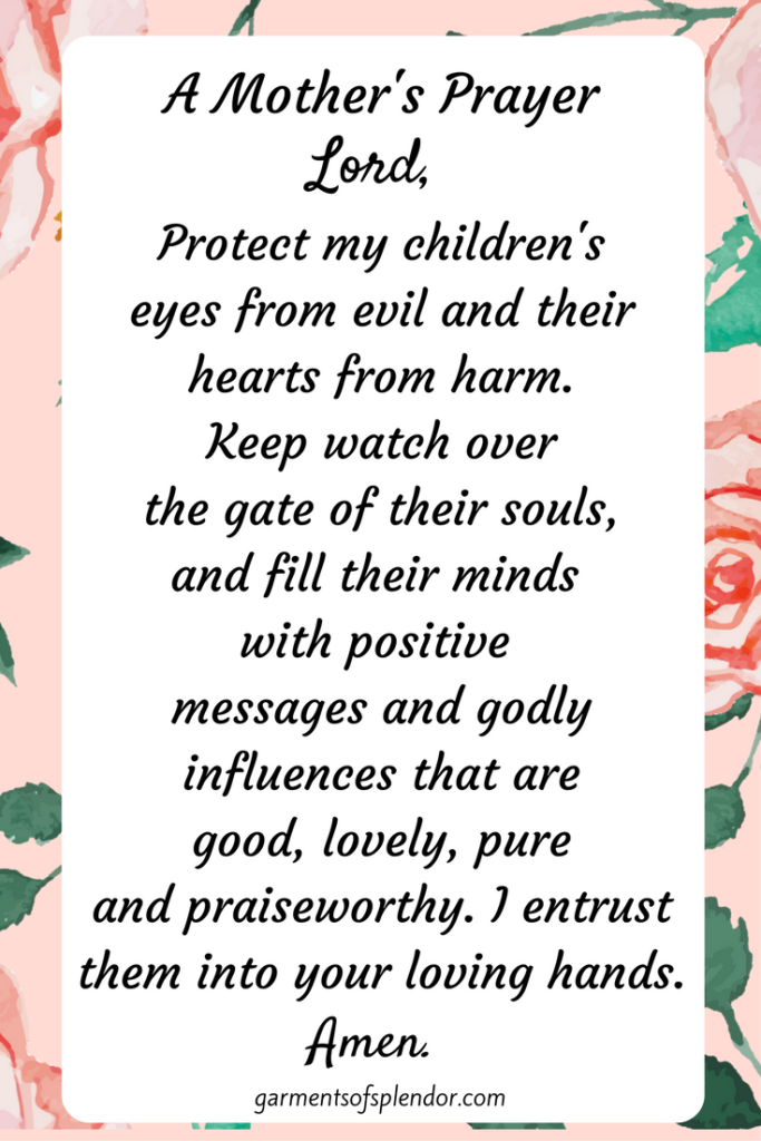 Pray for your children's protection daily!
