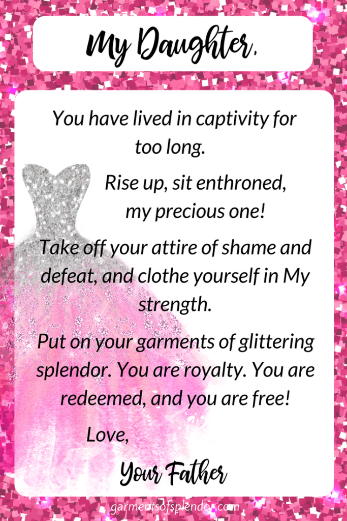 You are clothed with splendor and redeemed in Christ!