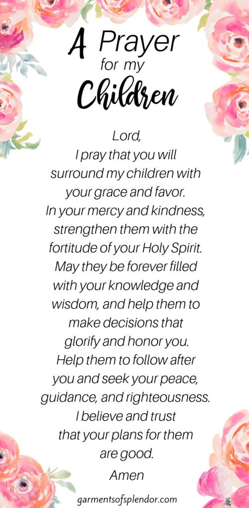 prayer_for_my_children