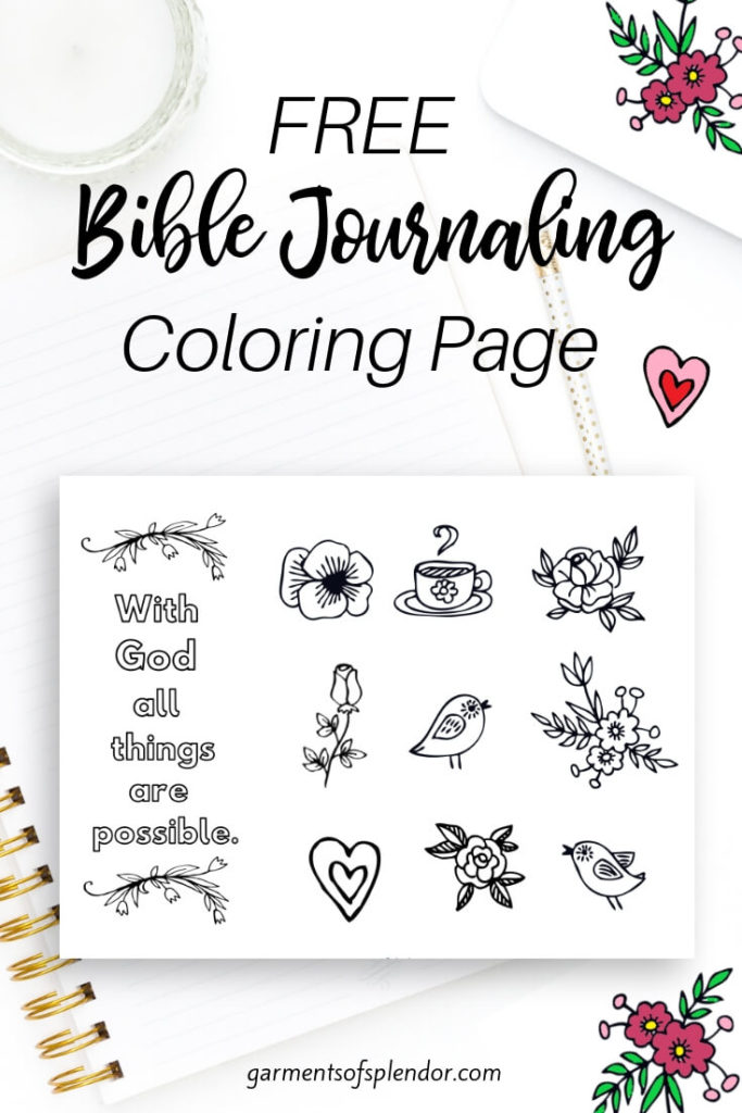 Download this free coloring page for your Bible journaling projects!