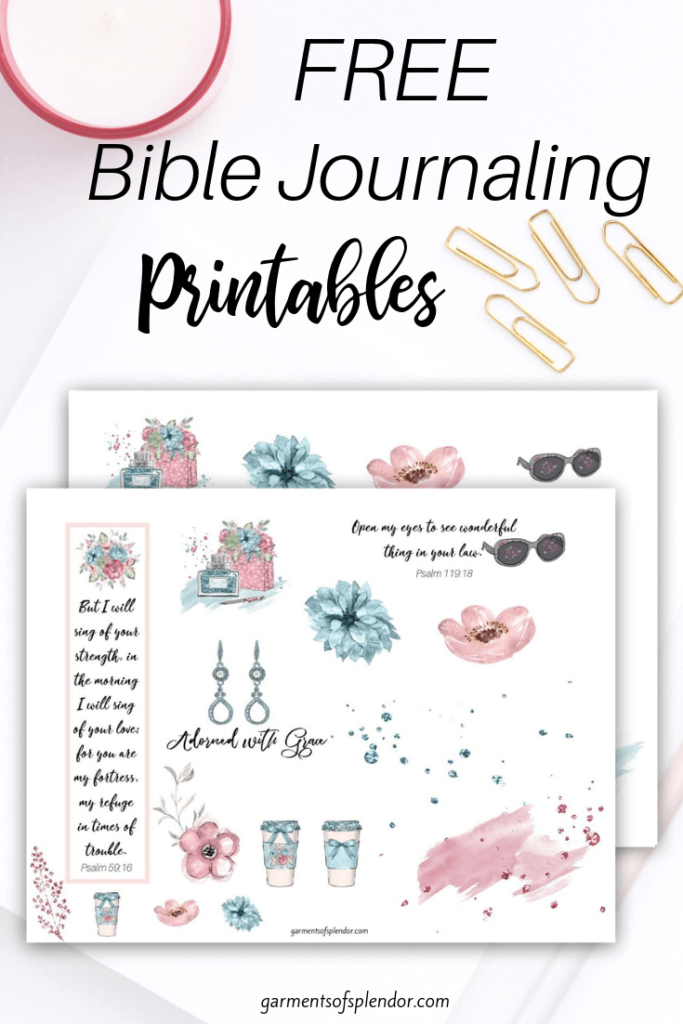 photo relating to Bible Study Journal Printable named Record of No cost Bible Journaling Printables -