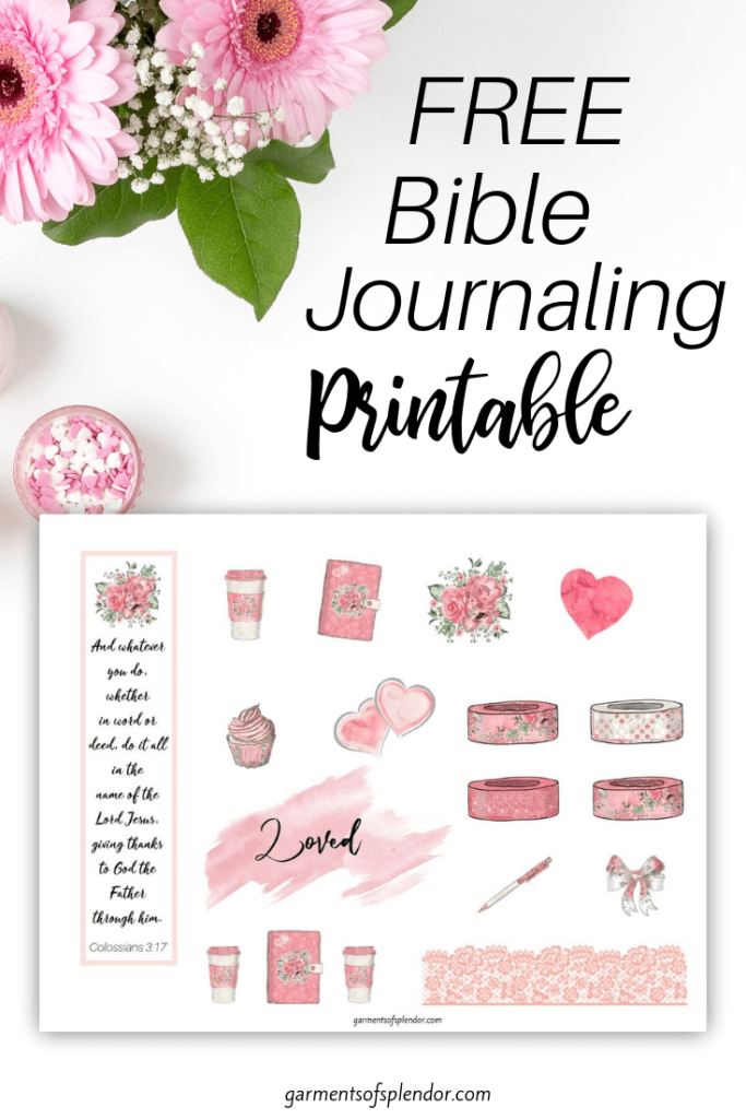 picture about Free Printable Bible Journaling Pages called Checklist of Absolutely free Bible Journaling Printables -