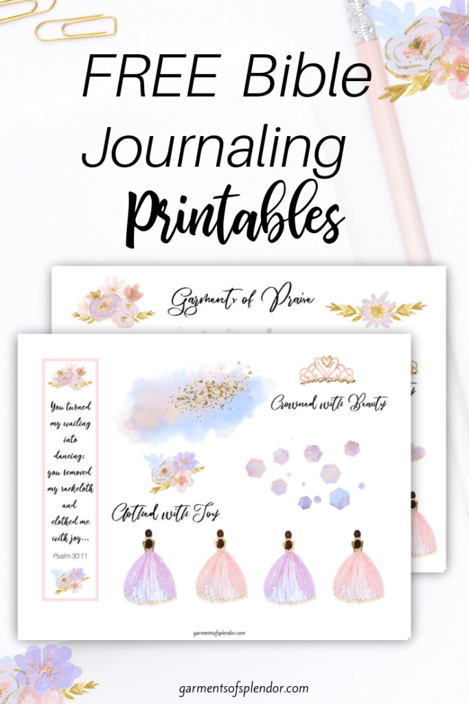 clothed in joy bible journlaing printable