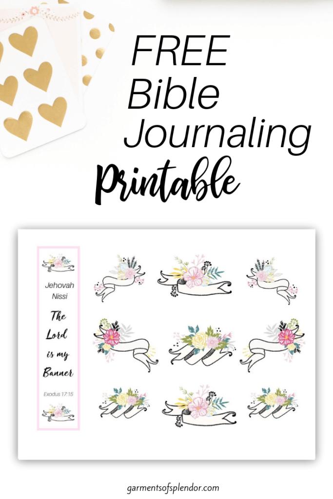 List Of Free Bible Journaling Printables