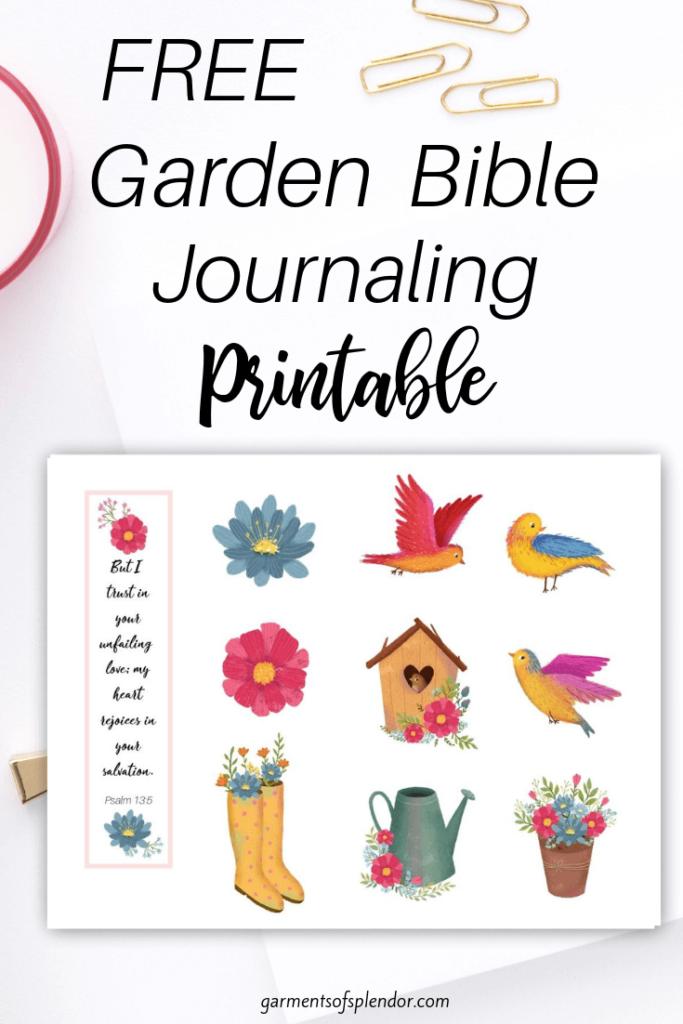 garden bible journaling printable