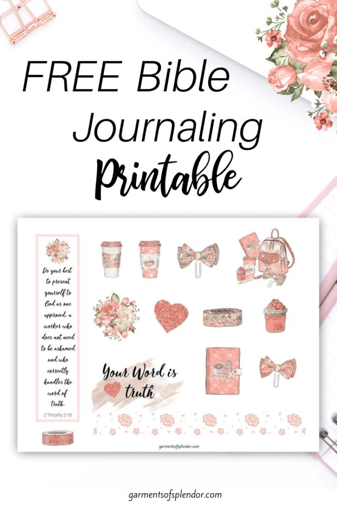 planner girl bible journaling printable