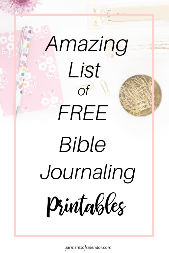 picture about Free Printable Bible Study Journal Pages named Listing of No cost Bible Journaling Printables -
