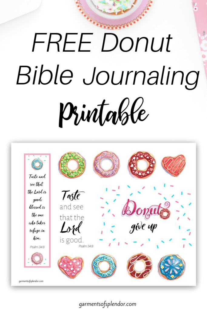 Free Donut Bible journaling prinable