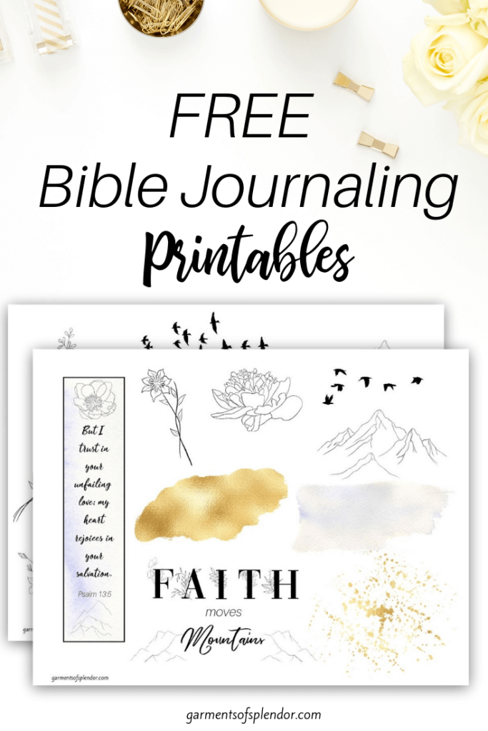 picture about Free Printable Bible Journaling Pages called Listing of Free of charge Bible Journaling Printables -