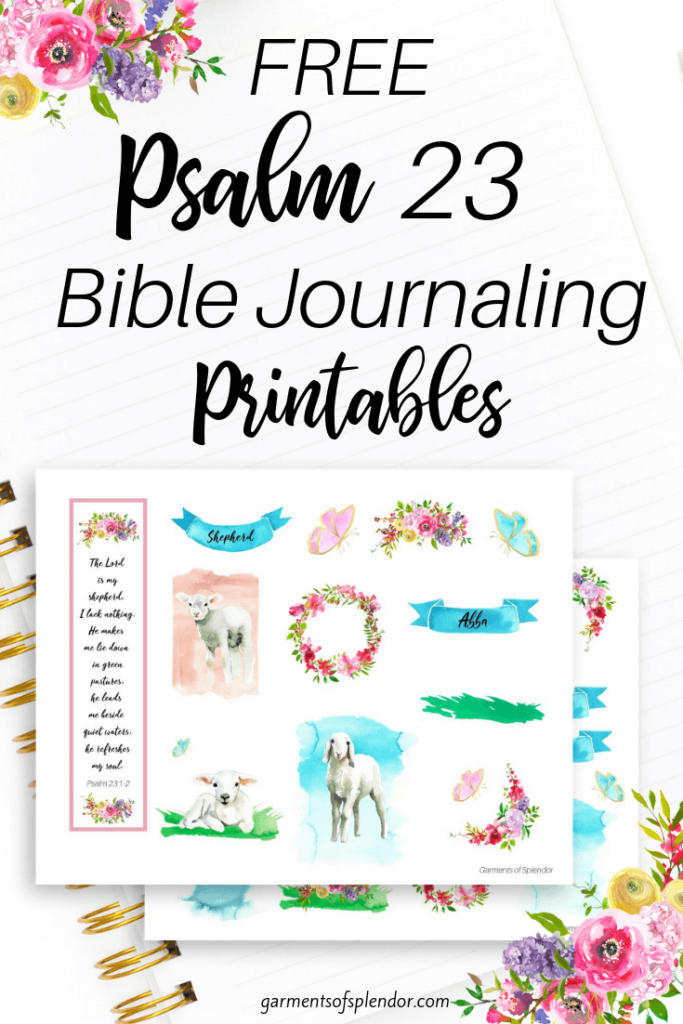 graphic relating to Psalm 23 Printable identify Checklist of No cost Bible Journaling Printables -