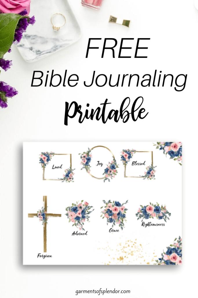 cross Bible journaling printable