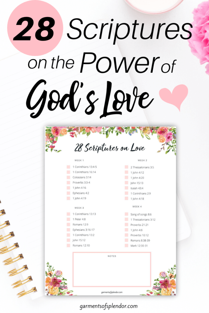 28 scriptures on the power of God's love scripture reading plan on love