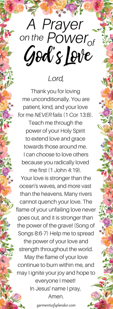 A prayer on the power of God's love