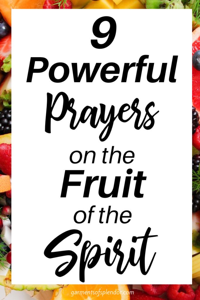 fruit of the spirit bible printables